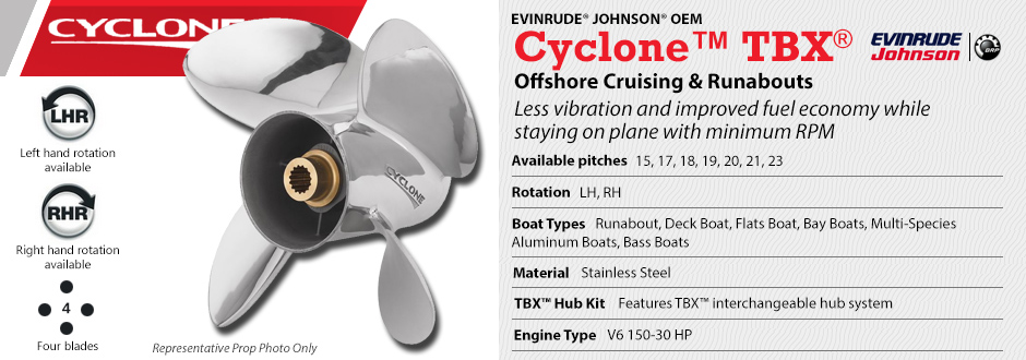 Cyclone TBX™ : Boat Propeller Warehouse