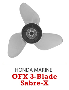 Click to Shop All Honda OFX Sabre-X 3-Blade Propellers