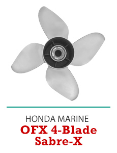 Click to Shop All Honda OFX Sabre-X 4-Blade Propellers