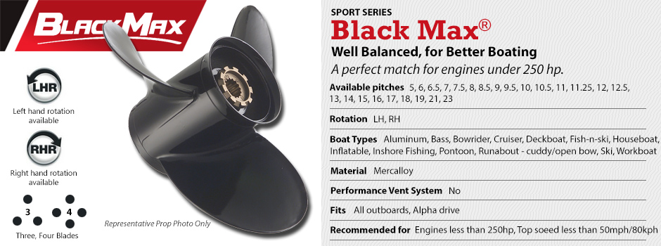 Mercury Black Max Propellers