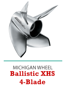 Click to Shop Michigan Wheel Ballistic XHS 4-Blade Propellers