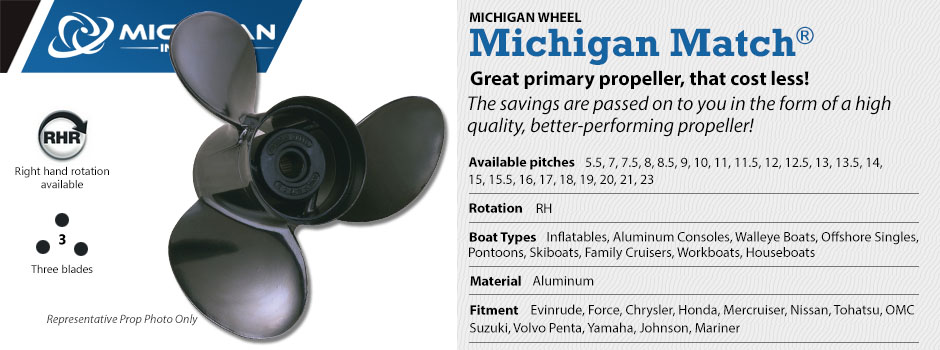 Michigan Wheel - Michigan Match Propellers